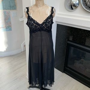 Vintage California Dynasty nightgown black large